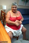 Grandma Libby. Sexy Red Lingerie Free Pic 5