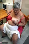 Grandma Libby. Sexy Red Lingerie Free Pic 6