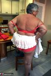 Grandma Libby. Sexy Red Lingerie Free Pic 8