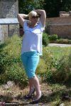 Melody. Blue Capri Pants Pt1 Free Pic 10