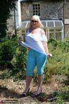 Melody. Blue Capri Pants Pt1 Free Pic 12