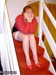 CurvyClaire. On The Stairs Pt1 Free Pic 1
