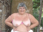 GrandmaLibby. Relaxing In The Garden Free Pic