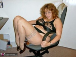 CurvyClaire. Office Gear & Thigh Boots Pt1 Free Pic