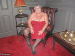 Grandma Libby. Red Dress Free Pic 3