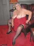 Grandma Libby. Red Dress Free Pic 6