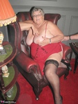 Grandma Libby. Red Dress Free Pic 8