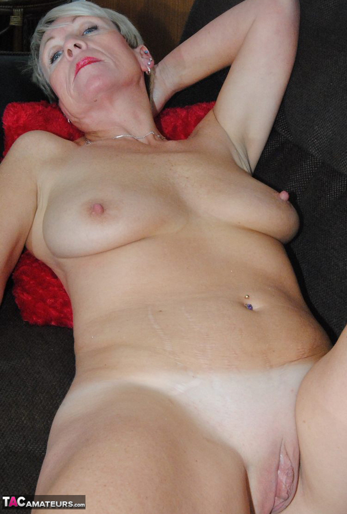 Big boobed milf fucking in stockings and a teddy 3