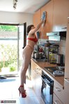 Hot Milf. Red Hot In The Kitchen Hard At Work Free Pic 13