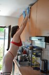 Hot Milf. Red Hot In The Kitchen Hard At Work Free Pic 15