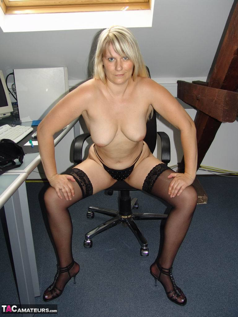 What excellent Office amateur nudist
