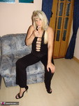 Sweet Susi. Smoking in my black dress and nude Free Pic 1