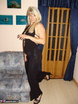 Sweet Susi. Smoking in my black dress and nude Free Pic 3
