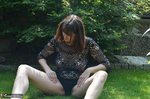 HotMilf. Striptease In The Meadow Free Pic 11