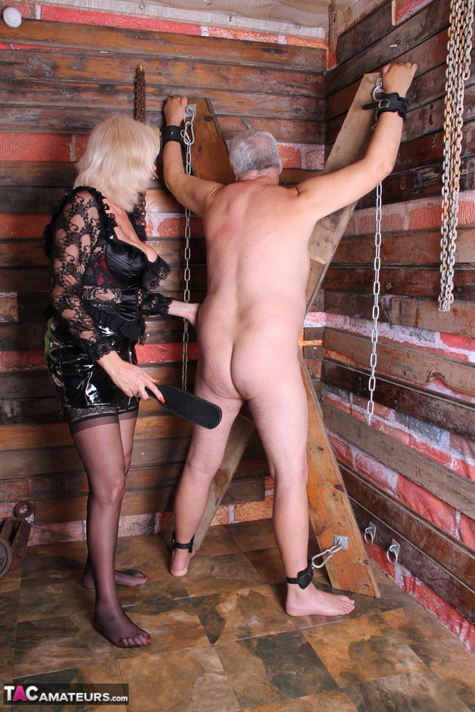 Bondage whipping