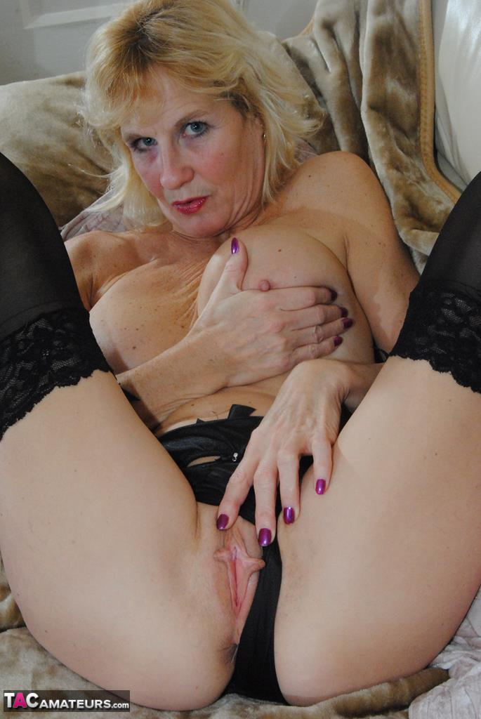 Saucy milf sexy stockings fucked and fisted 5