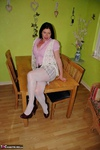 Juicey Janey. White Nylons Free Pic 1