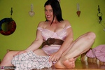 Juicey Janey. White Nylons Free Pic 19