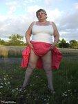 Grandma Libby. Flashing Outdoors Free Pic 2