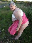 Grandma Libby. Flashing Outdoors Free Pic 18