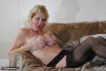 Molly MILF. Black & White Lingerie Free Pic 15
