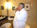 Grandma Libby. White Robe Bathroom Free Pic 1
