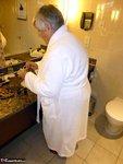 Grandma Libby. White Robe Bathroom Free Pic 3