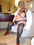 Grandma Libby. White Robe Bathroom Free Pic 7