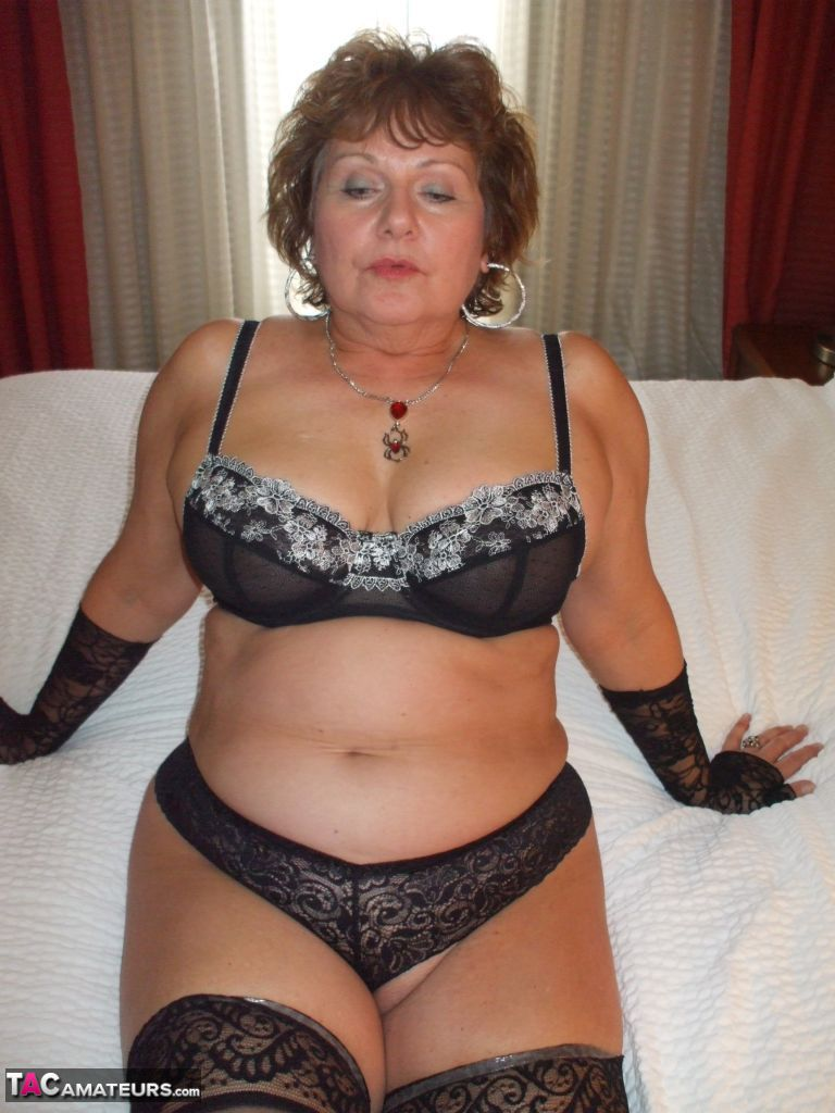 Remarkable, rather Amateur mature black lingerie consider, that