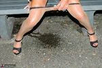 KyrasNylons. Kyra's Park Bench Golden Shower Pt1 Free Pic 7