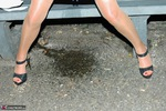 KyrasNylons. Kyra's Park Bench Golden Shower Pt1 Free Pic 10