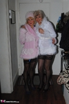 MollyMILF. Molly & Di Fur Coat Strip Free Pic 1