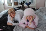 MollyMILF. Molly & Di Fur Coat Strip Free Pic 4