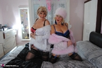 MollyMILF. Molly & Di Fur Coat Strip Free Pic 6