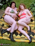 Curvy Claire. Sunbathing With Kinky Kelly Free Pic 1
