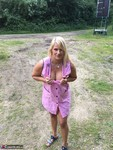 Sweet Susi. In The Pink Coat Outside Free Pic 14
