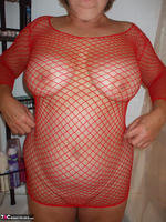 BustyBliss. Red Fishnet In The Shower - By Request Pt1 Free Pic 4