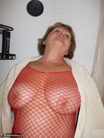 BustyBliss. Red Fishnet In The Shower - By Request Pt1 Free Pic 8