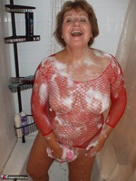 BustyBliss. Red Fishnet In The Shower - By Request Pt1 Free Pic 13