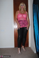 PlatinumBlonde. Pink Top & Leather Trousers Free Pic 4