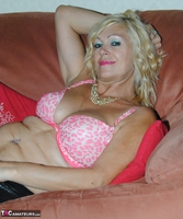 PlatinumBlonde. Pink Top & Leather Trousers Free Pic 12