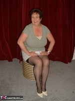 Kinky Carol. White Mini & Black Stockings Pt1 Free Pic 1
