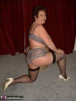 Kinky Carol. White Mini & Black Stockings Pt1 Free Pic 18
