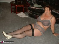 Kinky Carol. White Mini & Black Stockings Pt1 Free Pic 20