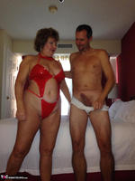 BustyBliss. Hotel Fun - Red PVC & Bellboy Cock Pt1 Free Pic 4