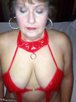 Busty Bliss. Hotel Fun - Red PVC & Bellboy Cock Pt1 Free Pic 7