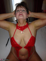Busty Bliss. Hotel Fun - Red PVC & Bellboy Cock Pt1 Free Pic 8