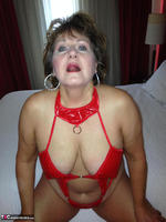 Busty Bliss. Hotel Fun - Red PVC & Bellboy Cock Pt1 Free Pic 10
