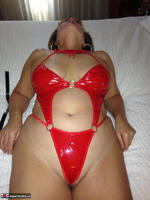Busty Bliss. Hotel Fun - Red PVC & Bellboy Cock Pt1 Free Pic 16
