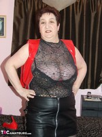 KinkyCarol. Red PVC & Black Leather Mini Pt1 Free Pic 9